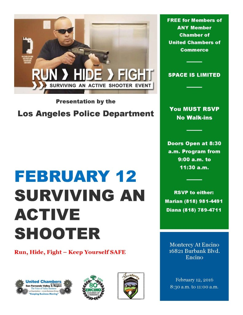 February 12 - Active Shooter Presentation